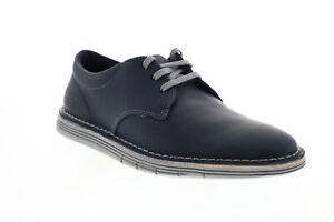 Clarks Forge Vibe 26153133 Mens Blue Leather Plain Toe Oxfords Shoes