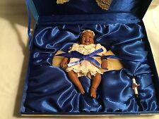 Daddy's Long Legs Angel Babies African American Doll with Gold Wings and Scroll