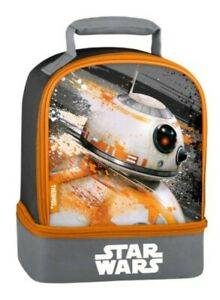 Disney Star Wars by THERMOS Black/Orange Insulated Lunch Bag New