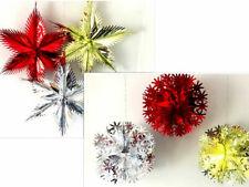 CHRISTMAS XMAS LUXURY METALLIC FOIL WALL CEILING FAN HANGING/BUNTING DECORATIONS
