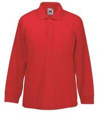Magliette , maglie e camicie rossi manica lunghi per bambini dai 2 ai 16 anni polo