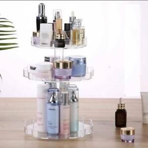 360 Rotating Makeup Organiser Storage Beauty Carousel Cosmetics Holder Stand