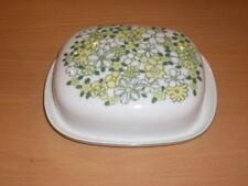 Butterglocke Melitta Germany Retro 60er/70er Jahre mit grünem Blumendekor