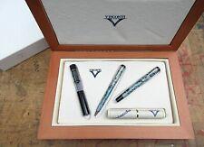 New Visconti Ponte Vecchio Granite Celluloid Limited Set FINE 14 nib