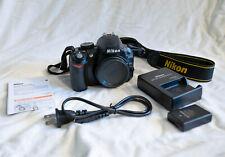 Nikon D D3100 14.2MP Digital SLR Camera - Black (Body Only) w/ Battery & Charger