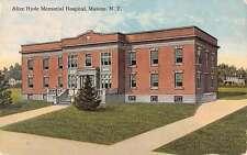 Malone New York Alice Hyde Memorial Hospital Antique Postcard K34184