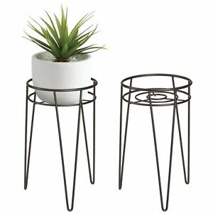 mDesign Midcentury Modern Plant, and Succulent Stand - Bronze