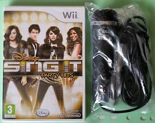 DISNEY SING IT PARTY HITS Wii GAME + MICROPHONE BIEBER, SELENA, DEMI etc NEW UK!
