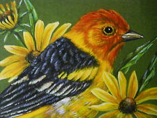 ACEO Tanager Western bird wildlife print of painting