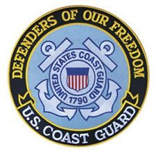 """COAST GUARD 12"""" sew on high quality EMBROIDERY EMBLEM-Patch GIFT?"""