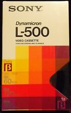 Sony Dynamicron L-500 180-Minute Beta Video Cassette Tape ~ Used ~