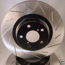 Camaro 98 99 00 01 02 Slotted Brake Rotors Premium Rear