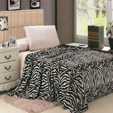 Zebra Animal Black/White Blanket Bedding Throw Fleece King Super Soft