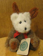"""Boyds Plush #9127 Ewell, 8"""" Bear as Moose, New/tags From Retail Store, jointed"""