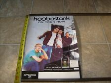 Hoobastank Rare Promotional Record Store Promo Cd Rock Tour Poster