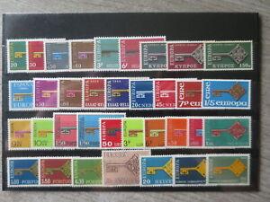 CEPT EUROPA 1968 ANNEE COMPLETE EN NEUF** TB cote Yvert € 90 b5/ceptc1968
