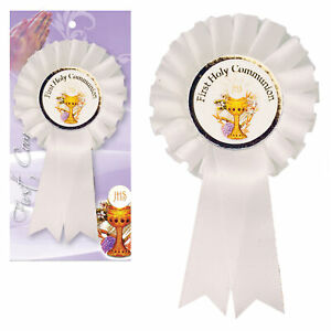 White Rosette Badge First Holy Communion C1903