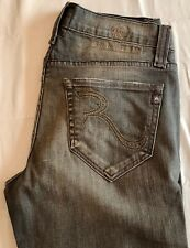Rock & Republic Vaughn Lowrise Straight Leg Jeans in Impound Grey Sz 31