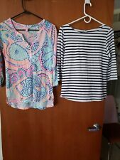 Lilly pulitzer ladies BLOUSES size SMALL PRE-OWNED mutilcolors. Package of 2