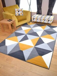 Ochre Gold Mustard Grey Small Extra Large Big Huge Floor Carpets Rugs Mats Cheap