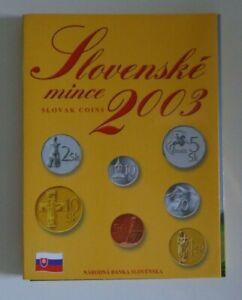 KMS Slowakei 2003 ° Kursmünzensatz mit 10 Heller - 10 Kronen Original-Blister