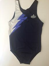"Milano Mens Lycra Blue And White Gymnastics Leotard Large 38"" Brand New Bnwt"