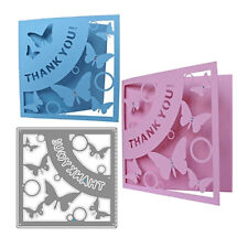 THANK YOU Letter Metal Cutting Dies Scrapbooking butterfly Stencil Craft Cards
