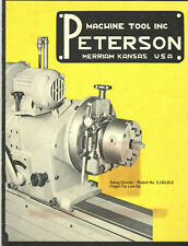VINTAGE 1960s PETERSON MACHINE TOOL CATALOG! MERRIAM, KS! FOR THE AUTO INDUSTRY!
