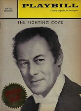 "Rex Harrison ""FIGHTING COCK"" Roddy McDowall 1959 Broadway Opening Night Playbill"