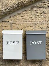 Post/Letter Box - Charcoal & Chalk
