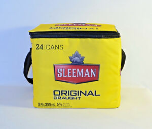 SLEEMAN Promotional COOLER Tote Bag INSULATED Holds 24 Cans