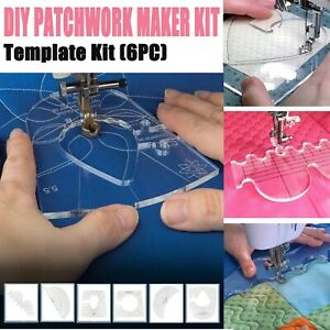 1/6PC Multifunctional Diy Patchwork Maker Kit For Sewing Lovers Portable Homey