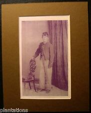 YOUNG BOY CONFEDERATE SOLDIER IN FULL UNIFORM, Print