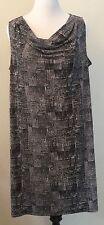 Premise Woman Plus Size 1X High Low Hem Cowl Neck Sheath Dress 14W 16W Stretch