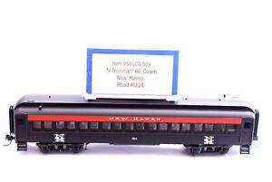 N Scale-ATLAS Trainman 50003809 New Haven 60' Pullman Passenger Coach 6824