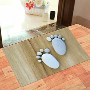 3D Foot Printed Door Mat with Anti Slip Backing (15 x 23 inch) Made Of Nylon