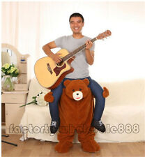 Teddy Bear Mascot Costume Halloween Ride On Fancy Dress Cosplay Outfit 170-180cm
