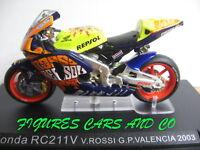 MOTO GP 1/24 HONDA RC 211V  VALENTINO ROSSI 2003 VALENCIA  WORLD CHAMPION