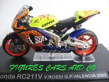 MOTO GP 1/24 HONDA RC 211V  VALENTINO ROSSI 2003 VALENCIA  WORLD CHAMPION