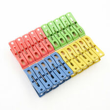 20 pcs Hot New Heavy Duty Plastic Laundry Clothes Pins Color Hanging Pegs Clips