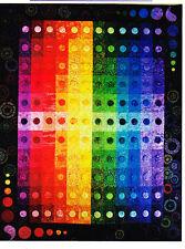 Color Fondue - modern applique & pieced quilt PATTERN - Swan Amity Studios