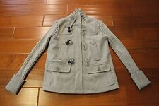 Gap Womens Toggle Jacket Ribbed Sleeve Size SMALL Grey