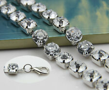 1 Row Diamante/Diamond Ladies Waist Chain/Charm Belt in Silver