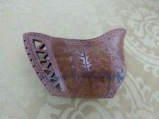 Vtg Hand Carved Reticulated Wooden Gravy Boat / Bowl, Open Work, Ornate Folk Art