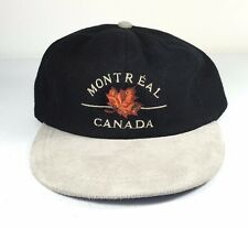 Montreal Canada Baseball Cap Hat Adjustable back Maple Leaf Cotton Black One Sz