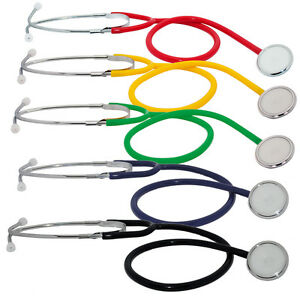 Medi-Inn Stethoscope Single Head for Doctors Nurses Vets Medical Students EMT