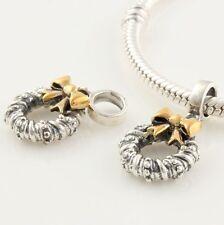 DANGLE WREATH .925 Sterling Silver European Charm Bead
