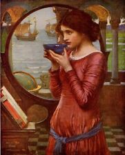 JOHN WILLIAM WATERHOUSE RA 1900 Oil Painting DESTINY 1930 Vintage Art Book Print