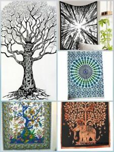 Multi 5 PC Wholesale Lot Meditation Tapestry Boho Poster Wall Hanging Indian art