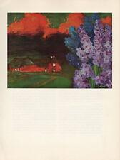 """1959 Vintage EMIL NOLDE """"SULTRY EVENING"""" GORGEOUS FAMOUS COLOR Offset Lithograph"""